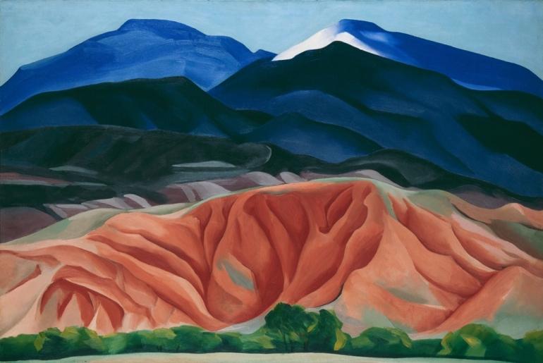 Georgia O'Keeffe – Black Mesa Landscape, New Mexico / Out Back of Mari's II, 1930. © 2016 Georgia O'Keeffe Museum/Bildrecht Wien