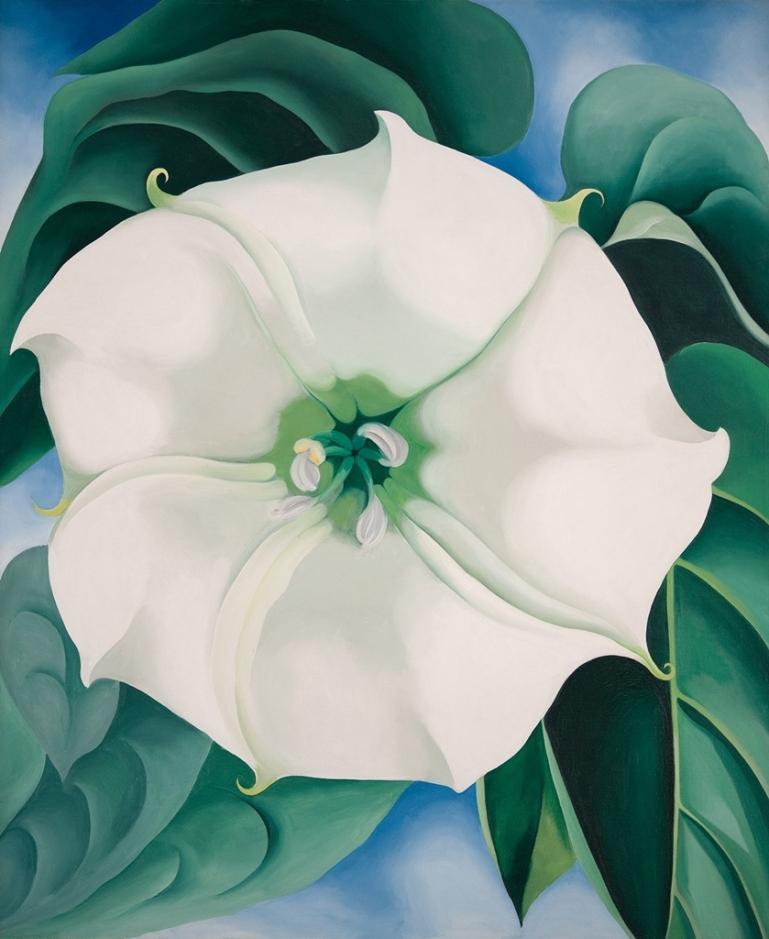 Georgia O'Keeffe – Jimson Weed/White Flower No. 1